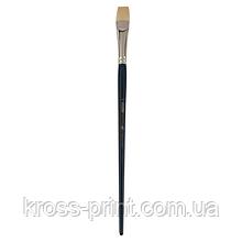Кисть синтетика, Ocean 6974, плоская, № 10, длинная ручка, ART Line