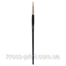 Кисть синтетика, Ocean 6974, круглая, № 10, длинная ручка, ART Line