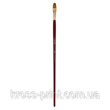 Кисть синтетика, Cherry 6971, овальная, №10 длинная ручка, ART Line