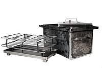 Коптильня 2-х ярусная (500х300х300мм) толщина металла 2мм(горячекатаный)