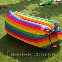 Надувной матрас Ламзак AIR sofa Rainbow Радуга