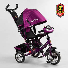 Велосипед триколісний Best Trike 6588/79-822 Фіолетовий | Велосипед-коляска з батьківською ручкою