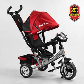 Велосипед триколісний Best Trike 6588/75-415 Червоний | Велосипед-коляска з батьківською ручкою