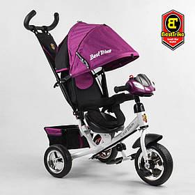Велосипед триколісний Best Trike 6588 / 80-916 Фіолетовий | Велосипед-коляска з батьківською ручкою