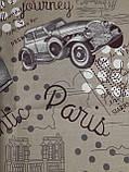 Простынь из полиэстера полуторная Авто, фото 6