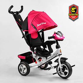 Велосипед триколісний Best Trike 6588 / 73-202 Рожевий | Велосипед-коляска з батьківською ручкою