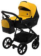 Дитяча коляска 2 в 1 Bair Kiwi 100% еко-шкіра BK-63/15 жовтий - чорний