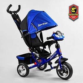 Велосипед триколісний Best Trike 6588/76-504 Синій | Велосипед-коляска з батьківською ручкою