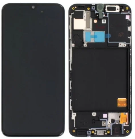 Дисплей (экран) для Samsung A315 Galaxy A31 с сенсором (тачскрином) и рамкой черный переклеенное стекло