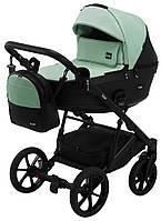 Дитяча коляска 2 в 1 Bair Kiwi 100% еко-шкіра BK-8/15 м'ятний - чорний