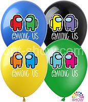 """Латексные воздушные шары с рисунком Among Us ассорти 12"""" (30 см) 10 шт"""