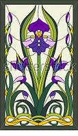 Оконный витраж - Витраж цветок
