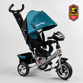 Велосипед триколісний Best Trike 6588/71-008 Бірюзовий | Велосипед-коляска з батьківською ручкою