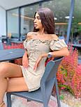 Коротке плаття з відкритими плечима і шнурівкою на грудях з коротким рукавом (р. 42, 44) 68032651, фото 5