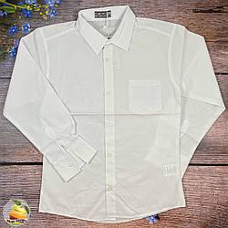 Біла сорочка з кишенею для підлітка Розмір: 140,152,164,176 см (02072)