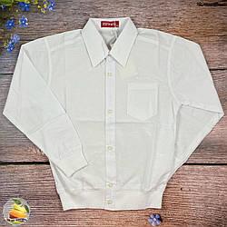 Дитяча біла сорочка і поясом на манжеті Розмір: 116,128,140,152 см (02073)