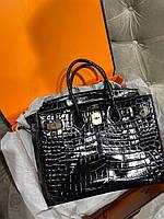 Женская сумка Гермес Биркин 35 см кожа под кроко (реплика), фото 1