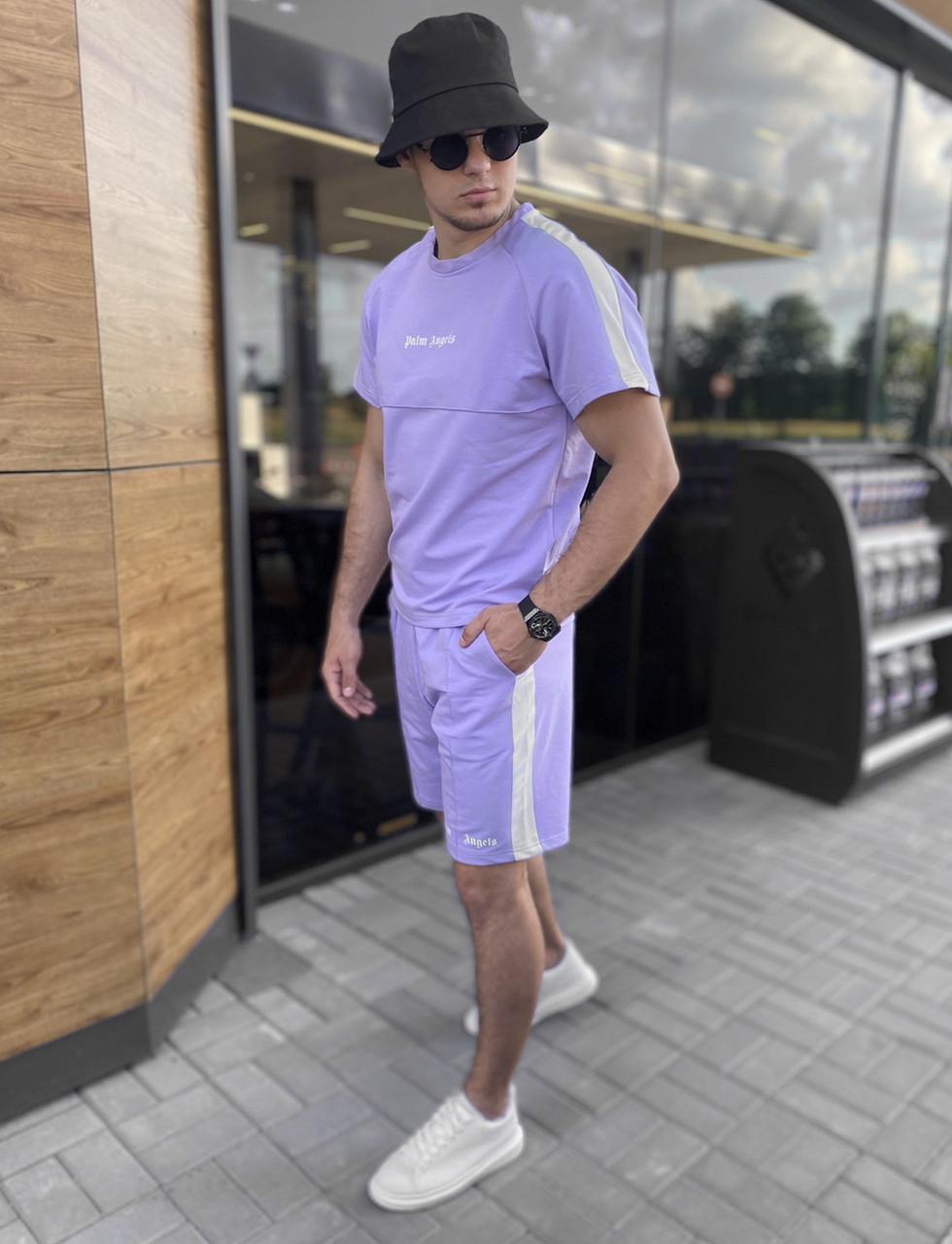 Літній спортивний костюм PALM ANGELS чоловічий комплект футболка і шорти брендовий копія репліка