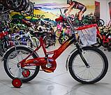 Велосипед Mustang Тачки 18 дюйма с корзинкой, фото 5