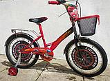 Велосипед Mustang Тачки 18 дюйма с корзинкой, фото 4