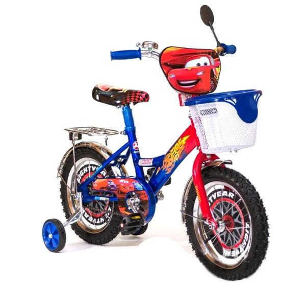Велосипед Mustang Тачки 18 дюйма с корзинкой