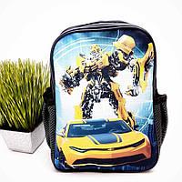 Рюкзак для хлопчика з роботом поліестер сірий Арт.44-7 (Україна)