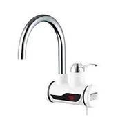 Электрический проточный кран водонагреватель для кухни Delimano с дисплеем боковое подключение