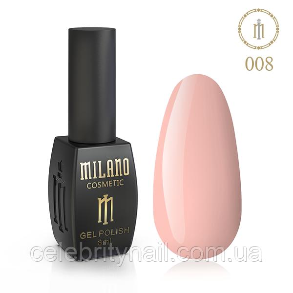 Гель лак Milano 008, 8 мл