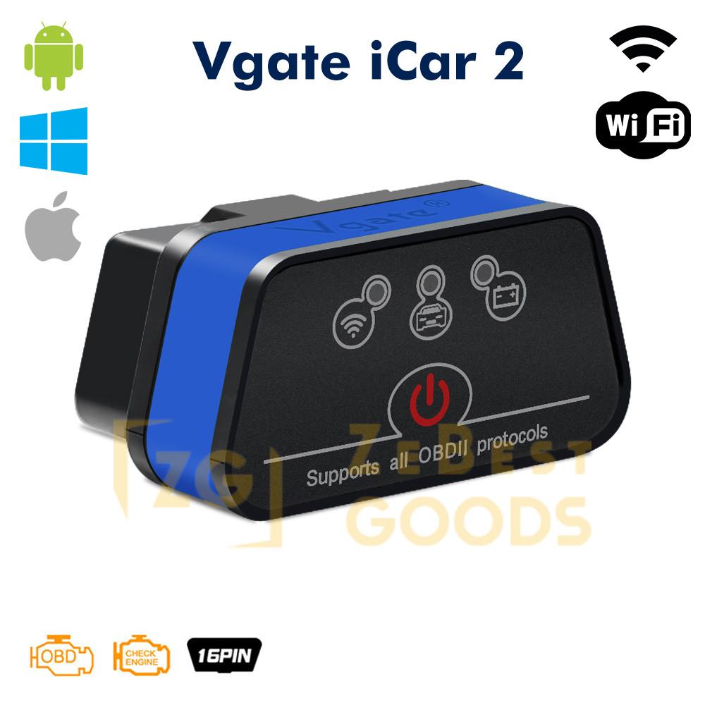 Автосканер ELM327 Vgate iCar2 OBD2 WiFi  для Android/iOs версія 2.1 (оригінал) (синій)