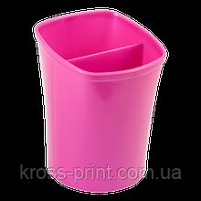 Стакан для письмового приладдя KVADRIK, рожевий, KIDS Line
