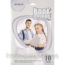 Пленка самоклеющаяся для книг Kite K20-307, 38x27 см, 10 штук, прозрачная