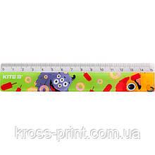 Лінійка пластикова Kite Jolliers К19-090-2, 15 см
