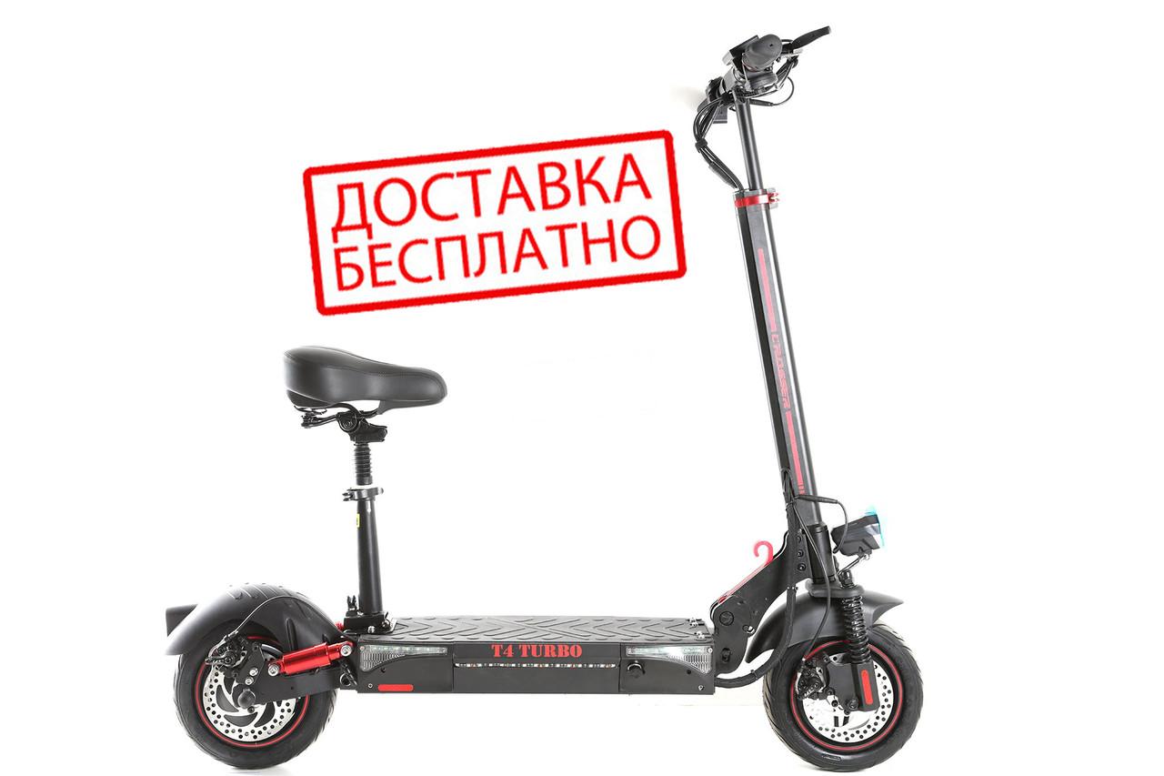 """Электросамокат складной Crosser T4 TURBO Air 10"""" (15Ah), электрический самокат с сиденьем"""