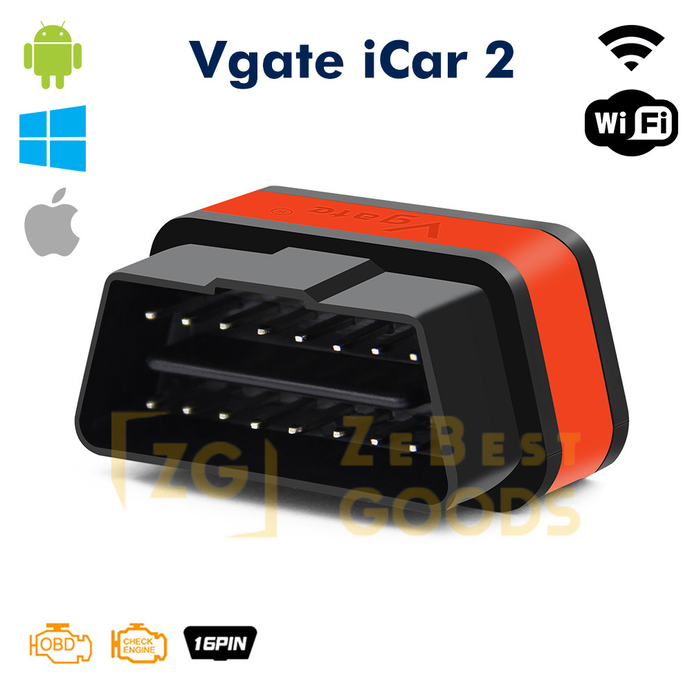 Автосканер ELM327 Vgate iCar2 OBD2 WiFi  для Android/iOs версия 2.1 (оригинал) (оранжевый)