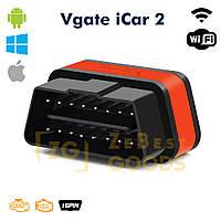 Автосканер ELM327 Vgate iCar2 OBD2 WiFi  для Android/iOs версия 2.1 (оригинал) (оранжевый), фото 1
