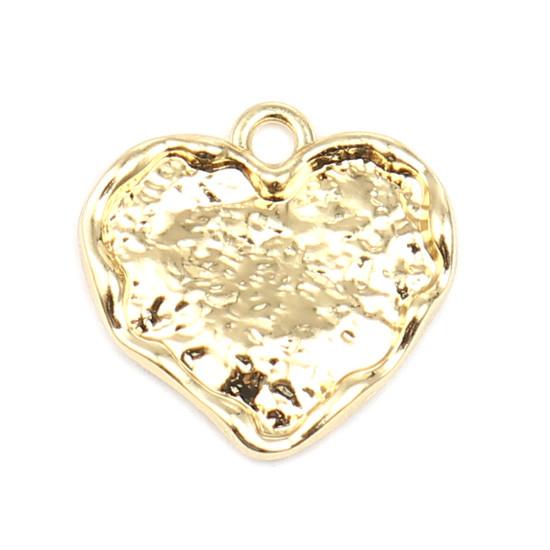 Підвіска Finding Кулон серце Золотистый 18 мм x 18 мм