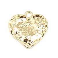 Підвіска Finding Кулон серце Золотистый 18 мм x 18 мм, фото 1