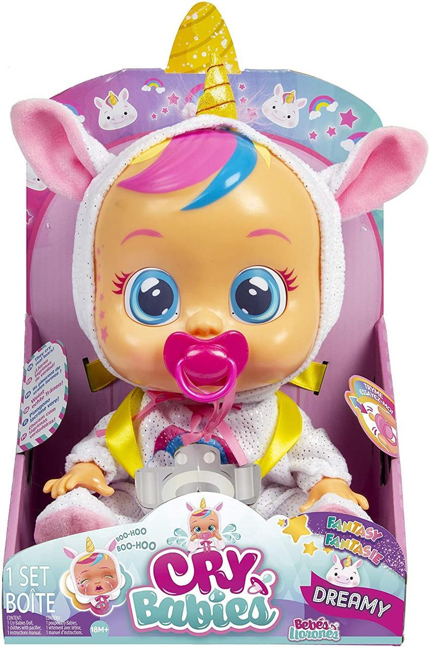 Интерактивная Кукла плакса Дракончик Дрими Cry Babies Dreamy The Unicorn Doll 99180