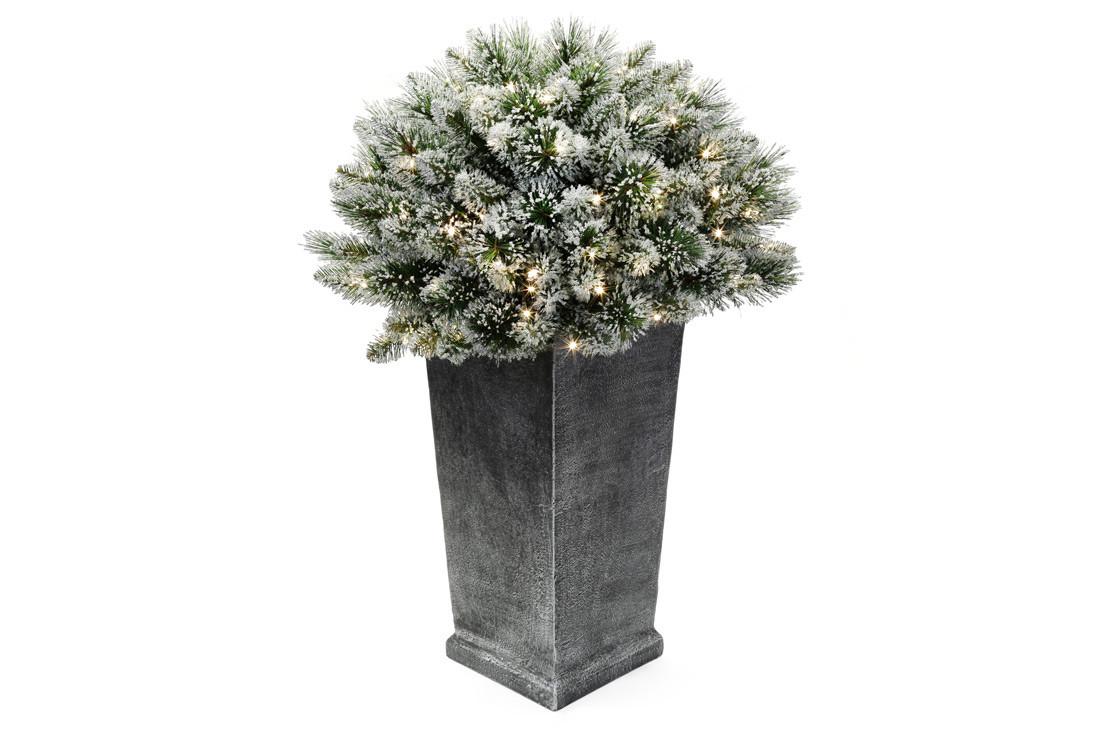 Декор из искуственной хвои в вазоне, 90см, 150 веток, 100 LED, свет - тёплый белый BonaDi 840-117