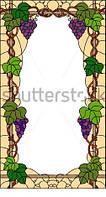 Витраж оконный - Витраж Виноград Листья