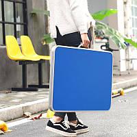Раскладной туристический стол для пикника складывается в чемодан нагрузка 20 кг L 86*60*70 см