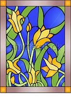 Витраж оконный - Витраж Цветы Тюльпан