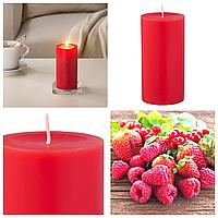 Свеча ароматическая красная IKEA SINNILIG 14 см х 45 часов горения декоративная свечка ИКЕА СІНЛІГ