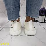 Кроссовки текстильные очень легкие дышащие найк белые 36, 37, 38, 39, 40, 41 р. (2573), фото 3