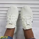 Кроссовки текстильные очень легкие дышащие найк белые 36, 37, 38, 39, 40, 41 р. (2573), фото 6