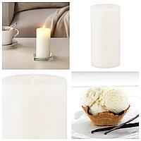 Свеча ароматическая белая IKEA SINNILIG 14 см х 45 часов горения декоративная ванильная свечка ИКЕА СІНЛІГ