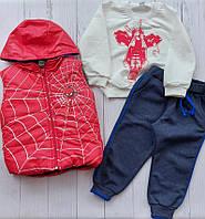 """Костюм трійка дитячий модний з павуком на хлопчика 2-5 років (4кол) """"MARI"""" купити оптом в Одесі на 7 км"""