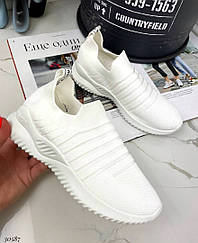 Сліпони текстильні Колір:білий