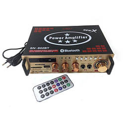 Усилитель звука Bluetooth караоке UKC 802 BT Black 007545, КОД: 950683
