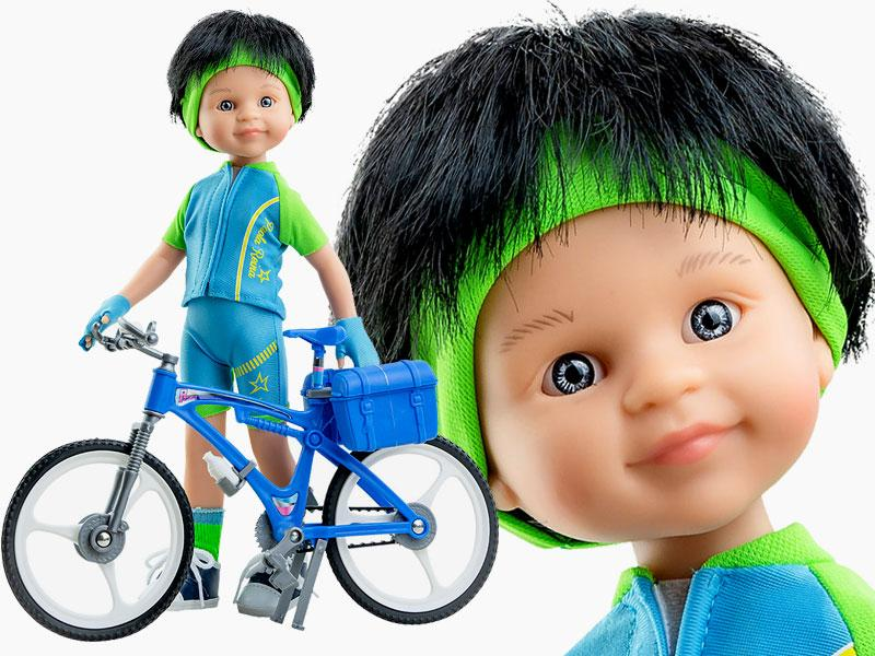 Лялька Кармело велосипедист 32 см Paola Reina 04659
